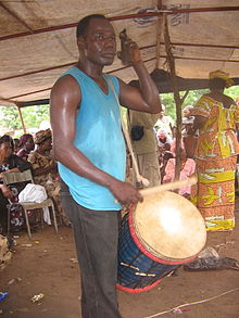Konkoni player in Mali