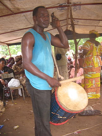 Djembe - Khassonka player in Mali