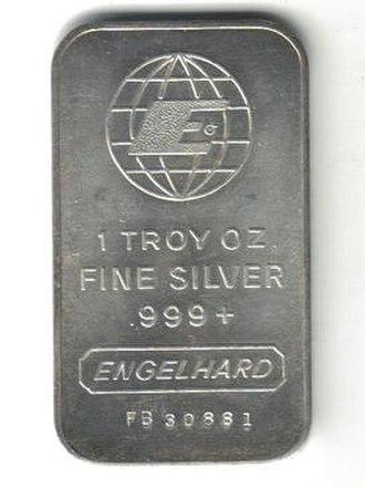 Engelhard - An Engelhard silver bar.