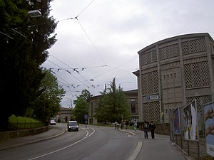 University of Fribourg - Entrance, Avenue de l'Europe.