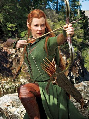 Tauriel - Evangeline Lilly filming the latter two films in The Hobbit trilogy.