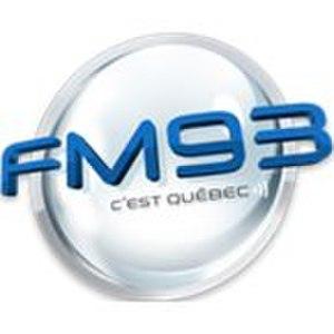 CJMF-FM - Image: FM 93 Quebec 2012