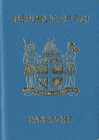 Fijian passport - Fijian passport front cover