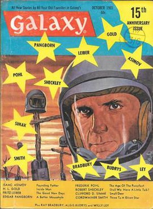 "Founding Father (short story) - ""Founding Father"" was the cover story for the October 1965 issue of Galaxy Science Fiction"