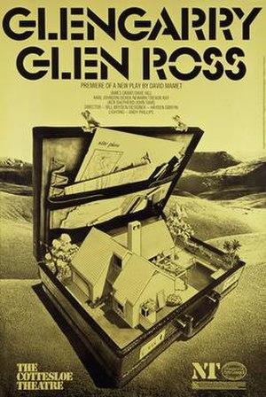 Glengarry Glen Ross - Poster for 1983 National Theatre production