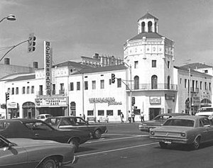 Golden Gate Theater - Golden Gate Theater in 1980 with the Vega Building intact