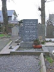 Yeats's gravestone in Drumcliff, County Sligo.
