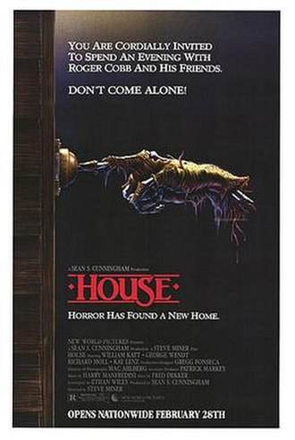 House (1986 film) - Theatrical release poster