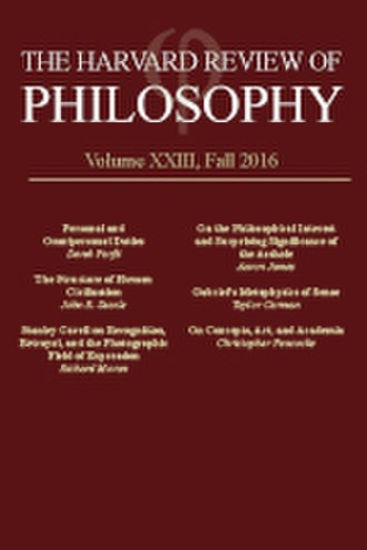 The Harvard Review of Philosophy - Image: Hrp cover 1