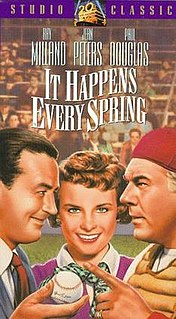 <i>It Happens Every Spring</i> 1950 film by Lloyd Bacon