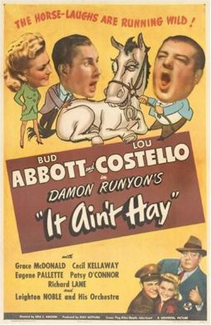 It Ain't Hay - Theatrical release poster