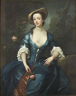 James Latham (painter) - James Latham (1696-1747)  Portrait of a girl holding a rose.
