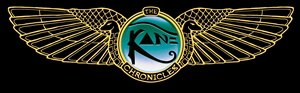 The US logo for The Kane Chronicles