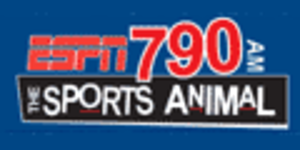 "KBME (AM) - KMBE's logo as ""ESPN 790, The Sports Animal"""