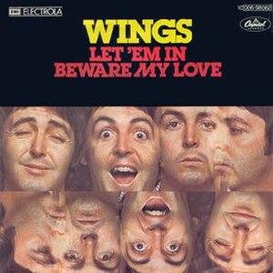 Let 'Em In - Image: Let 'Em In (Wings single cover art)