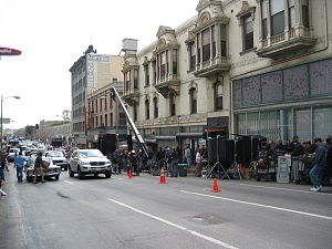 Location manager - Film shooting on location in Downtown Los Angeles