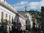 Hill of El Panecillo that separates the old downtown from the southern part of the city