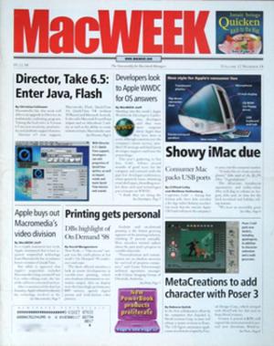 MacWEEK - Image: Mac WEEK cover nov 98