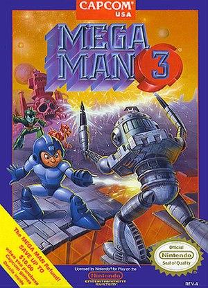 Mega Man 3 - North American cover art