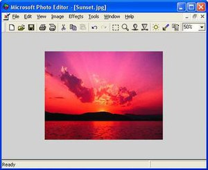Microsoft Photo Editor - Image: Microsoft Photo Editor 3.0 screenshot