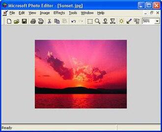Microsoft Photo Editor - Image: Microsoft Photo Editor 3.0 screenshot