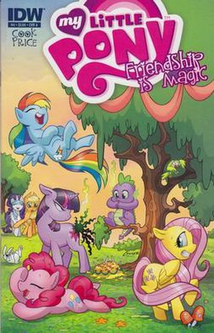 My Little Pony (IDW Publishing) - Cover of Issue 4, art by Amanda Conner