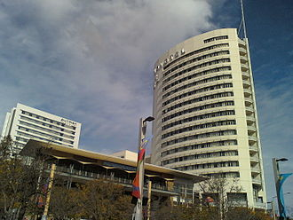 AccorHotels - Pullman at Sydney Olympic Park (left) and Novotel Sydney Olympic Park (right)