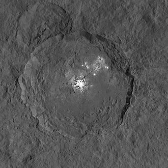 Crater Illusion - Crater Occator on the dwarf planet Ceres