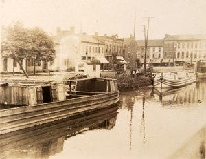 Massillon, Ohio - Ohio and Erie Canal in Massillon at the turn of the century