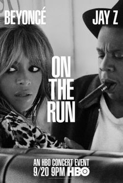 On the run tour beyonc and jay z tv program wikipedia on the run tour hbo posterg malvernweather Choice Image