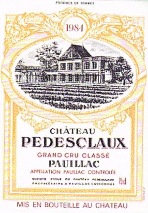 Château Pédesclaux - Label from a bottle of Château Pédesclaux wine.