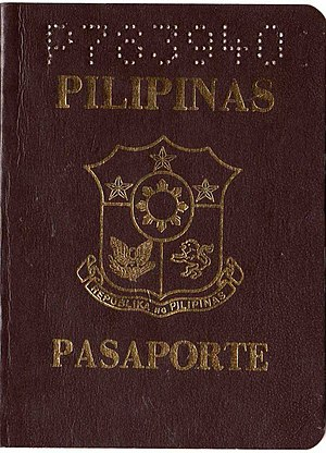 Philippine passport - Image: Philippine passport (old style brown)