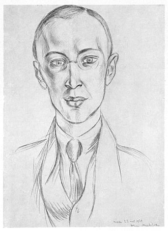 Sergei Prokofiev - Prokofiev, as drawn by Henri Matisse for the premiere of Chout (1921)