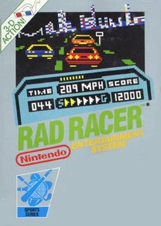 Rad Racer - North American box art