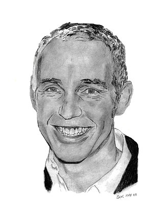Ray D'Arcy - A pencil portrait of Ray D'Arcy