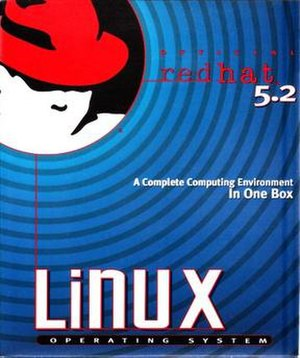 Red Hat Linux - Box cover shot of Red Hat Linux 5.2