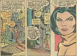 Spider-Woman (Jessica Drew) - Image: Reflective scene Spider Woman 2