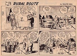 Walter Ball (cartoonist) - 1958 episode of Ball's Rural Route strip