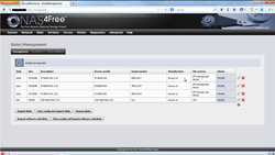Screenshot of NAS4Free WebGUI