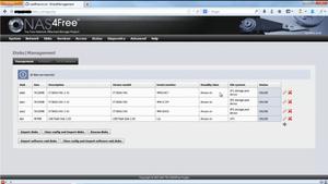 NAS4Free - Image: Screenshot of NAS4Free Web GUI