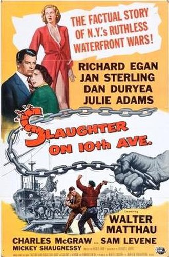 Slaughter on Tenth Avenue (film) - Theatrical release poster