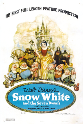 Snow White and the Seven Dwarfs (1937 film) - Theatrical release poster
