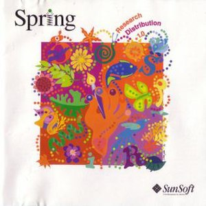 Spring (operating system) - Spring Research Distribution 1.0 CD cover
