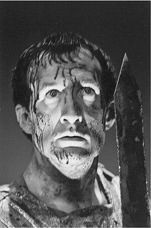 Stephen Moorer - Image: Stephen Moorer as title role in Shakespeare's Coriolanus, 1997