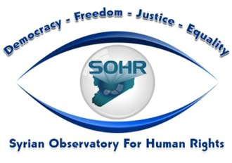 Syrian Observatory for Human Rights - The logo of the Syrian Observatory for Human Rights