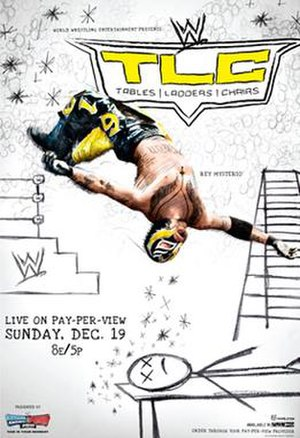 TLC: Tables, Ladders & Chairs (2010) - Promotional poster featuring Rey Mysterio