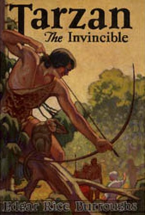 Tarzan the Invincible - Dust-jacket illustration of Tarzan the Invincible