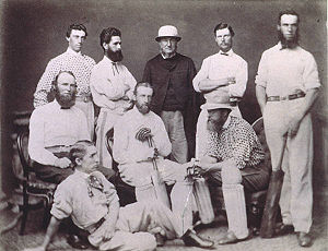 Tasmania cricket team - The Tasmanian side that played against Victoria in 1867.