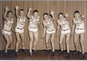 "1944–45 Illinois Fighting Illini men's basketball team - ""1944-45 Fighting Illini men's basketball team"""