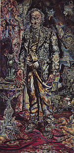 Albright's painting of Dorian Gray, from the 1945 film